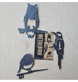 Metalbird Metalbird 3-Pack: uil, specht, roodborst
