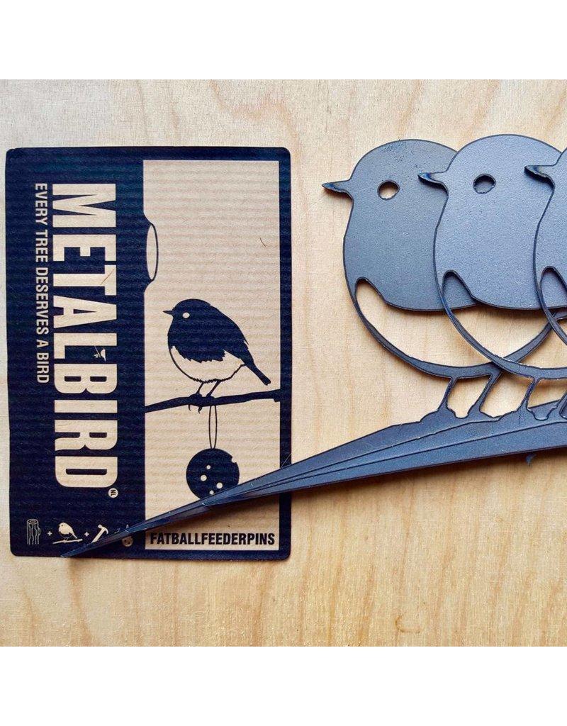 Metalbird Metalbird Roodborstjes Vetbolhouder 3-Pack