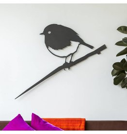 Metalbird Metalbird Wallpiece Roodborst