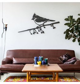 Metalbird Metalbird Wallpiece Kuifmees