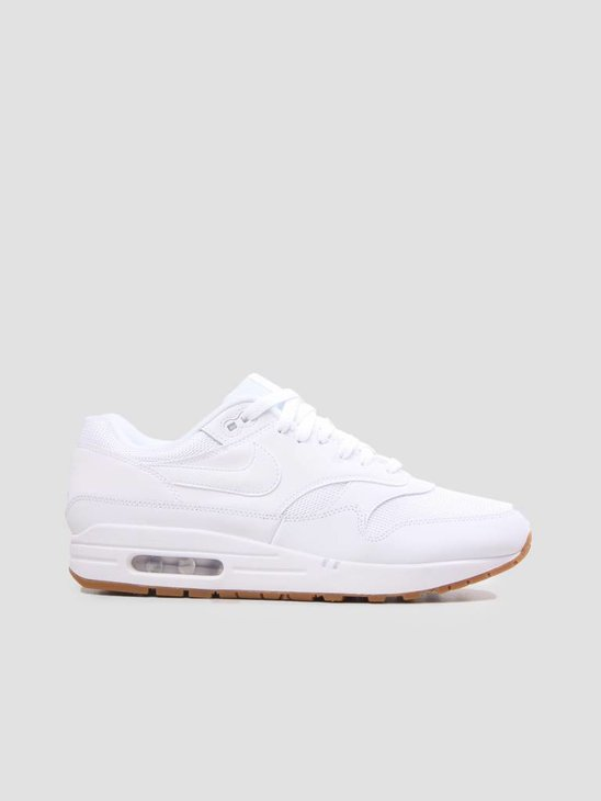 Nike Air Max 1 Shoe White White-White-Gum Med Brown AH8145-109