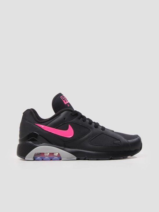 Nike Air Max 180 Black Pink Blast-Wolf Grey AQ9974-001