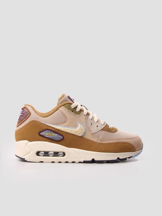 Nike Air Max 90 Premium SE Shoe Muted Bronze Light Cream-Royal Tint 858954-200