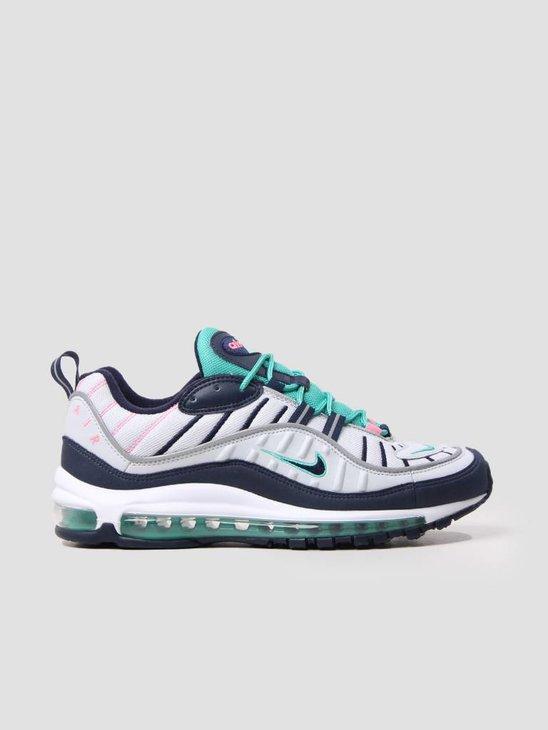 Nike Air Max 98 Pure Platinum Obsidian-Kinetic Green 640744-005