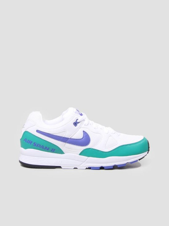 Nike Air Span II Shoe White Persian Violet-Neptune Green-Black AH8047-106