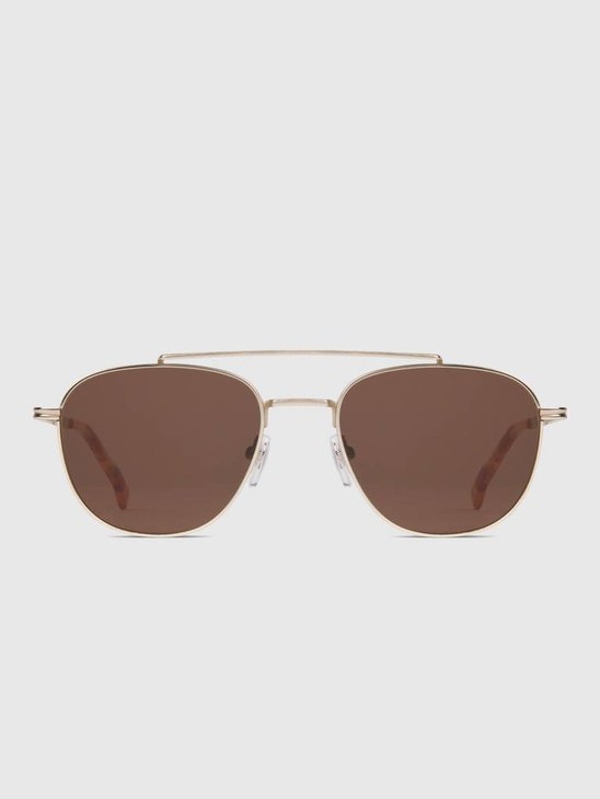 Komono Alex Sunglasses White Gold Kom-S3501