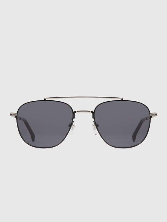 Komono Alex Sunglasses Silver/Black Kom-S3502