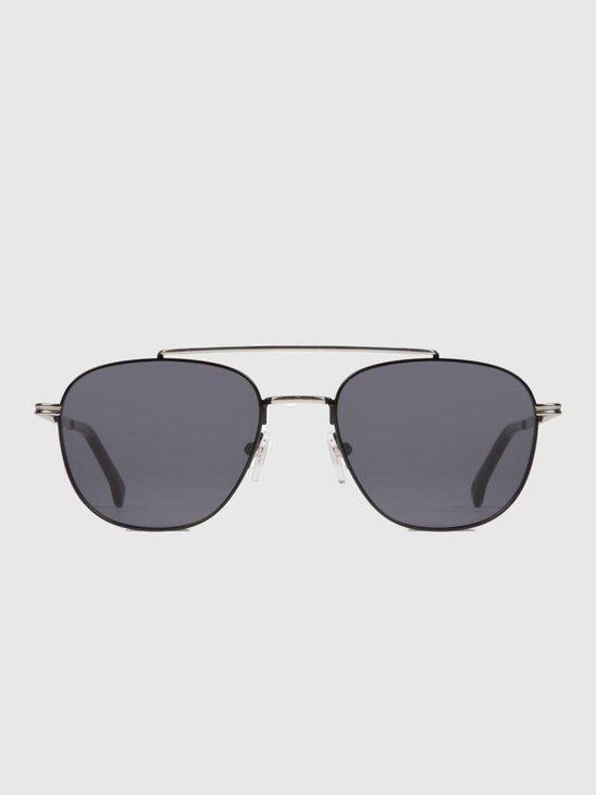 Komono Alex Sunglasses Silver/Black Kom-S3502