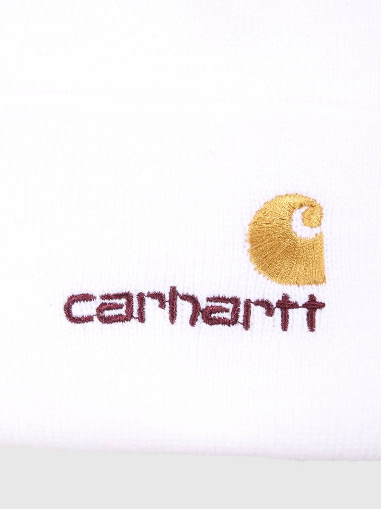 05ca624456081 Carhartt WIP American Script Beanie White I025386-200 - FRESHCOTTON