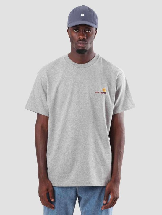 Carhartt WIP American Script T-Shirt Grey Heather I025711-V600