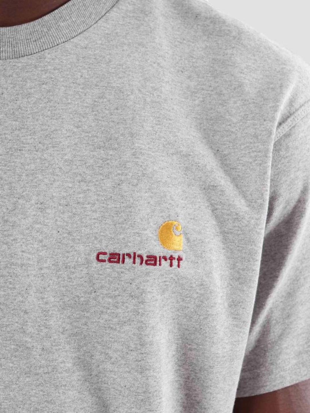 Carhartt WIP Carhartt WIP American Script T-Shirt Grey Heather I025711-V600