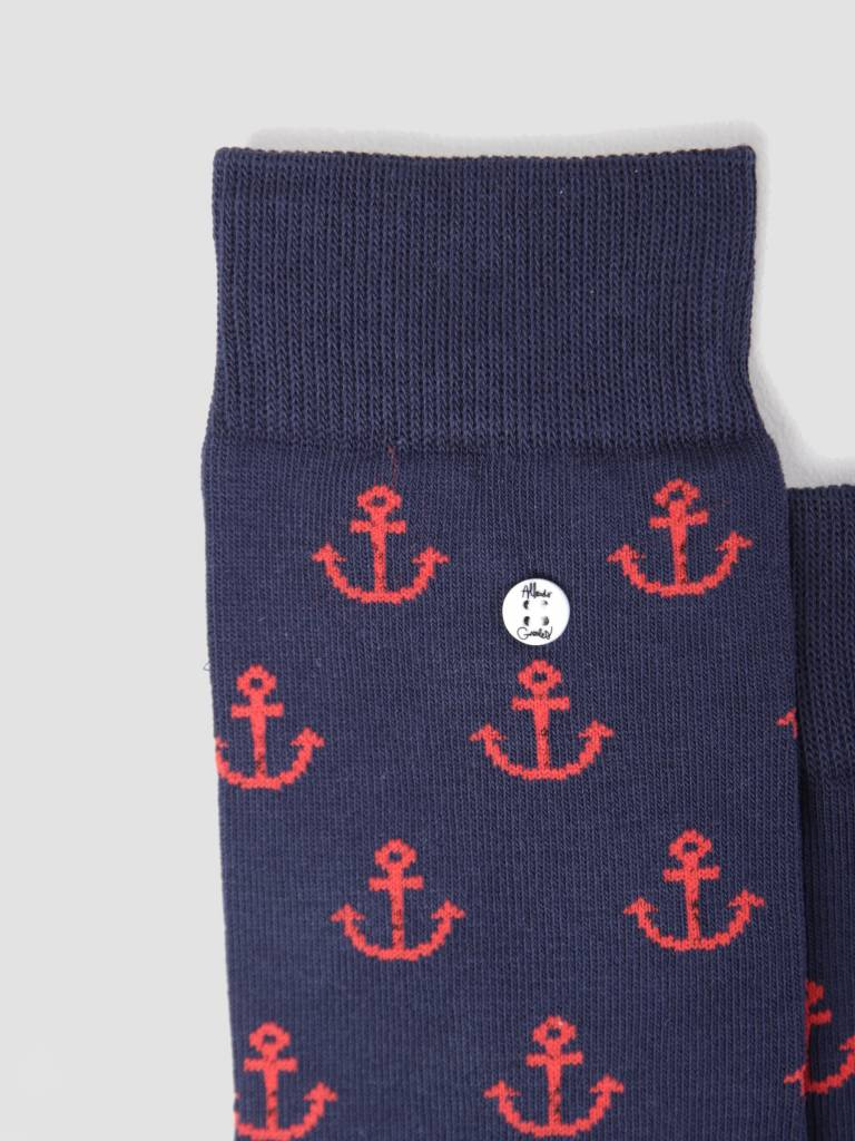 Alfredo Gonzales Alfredo Gonzales Anchor Man Navy Red Socks AG-Sk-FC-03