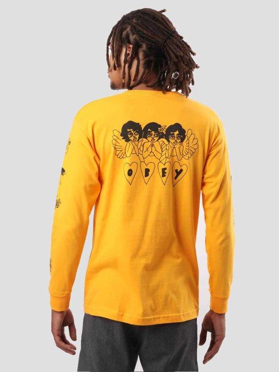 Obey Angels Gold Longsleeve 164901835