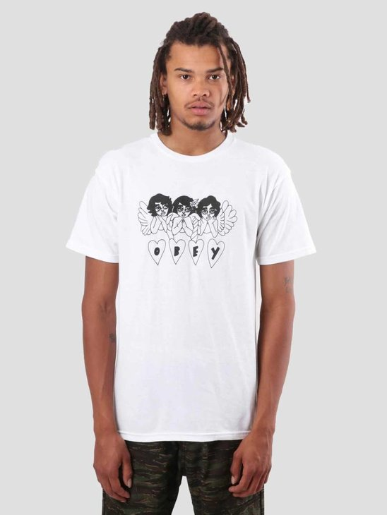 Obey Angels T-Shirt White 163081835