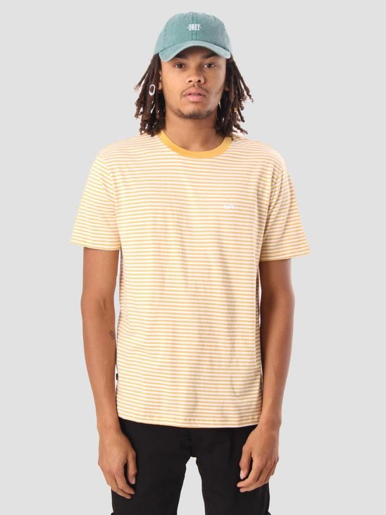 Obey Apex T-Shirt Yellow Multi 131080182