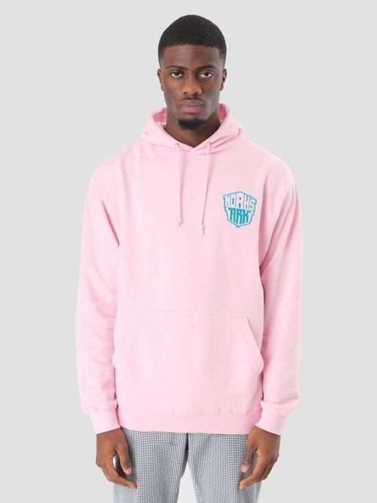 Noahs Ark Ark Ark Ark Embroidery Logo Hoodie Baby Pink