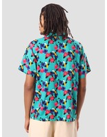 Obey Obey Ashed Out Woven Shirt Teal 181210205
