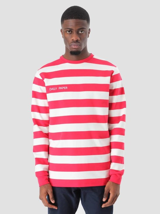 Daily Paper Astripe Longsleeve Red NOST16