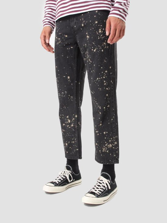 Obey Bender 90's Overdye Denim Pants Bleached Black 142010049 Bla
