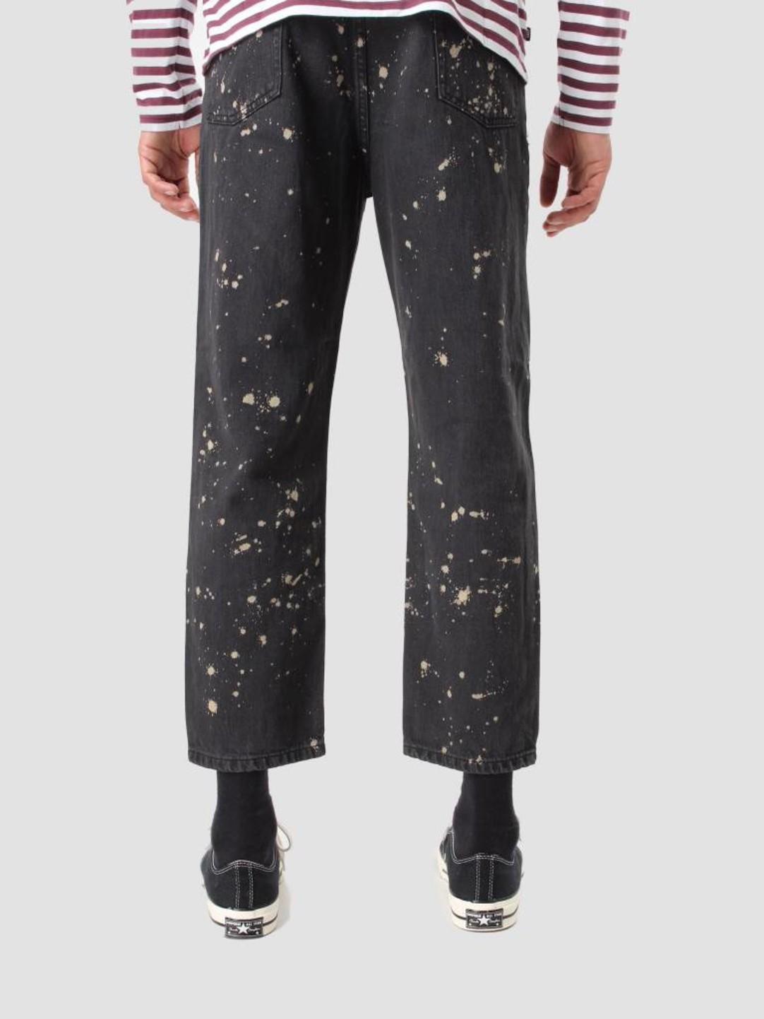 Obey Obey Bender 90's Overdye Denim Pants Bleached Black 142010049 Bla