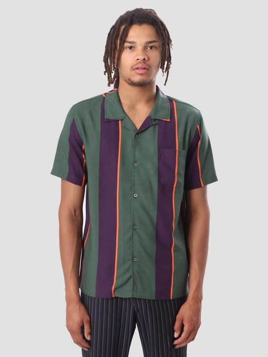Stussy Big Stripe Shirt Green 111973