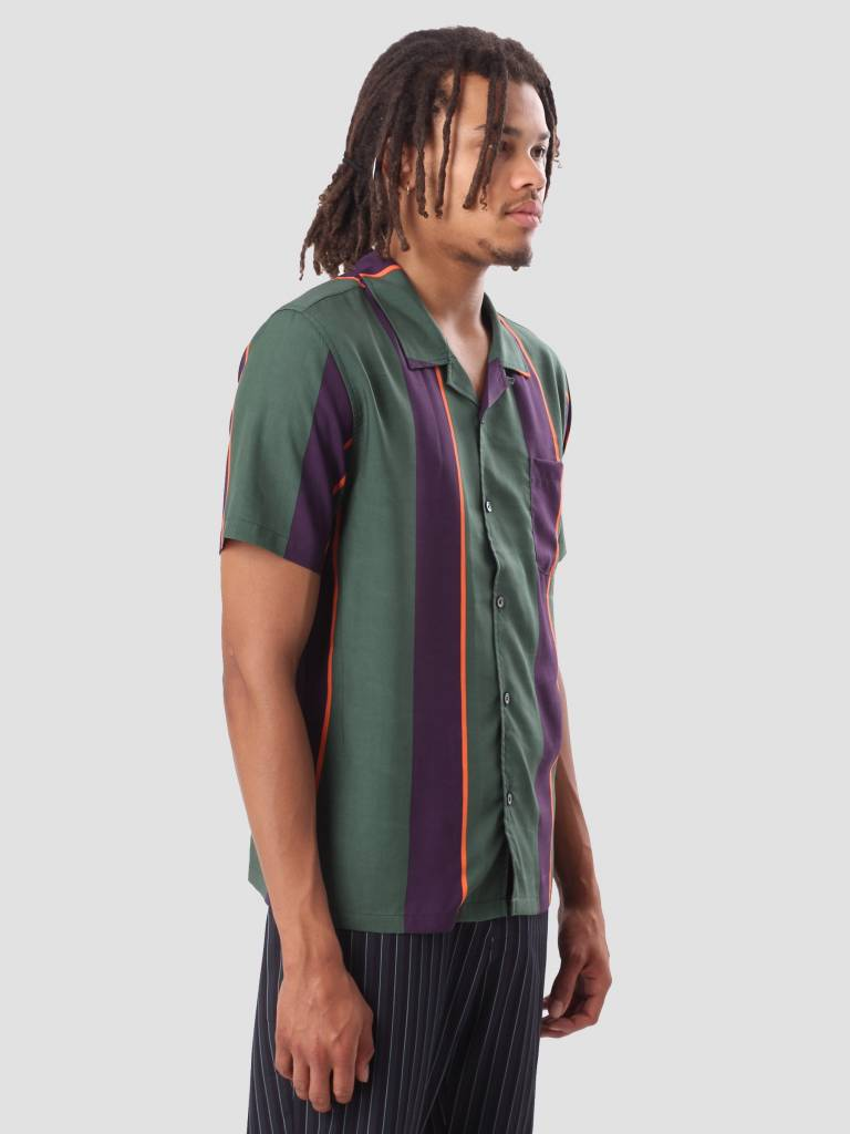 Stussy Stussy Big Stripe Shirt Green 111973