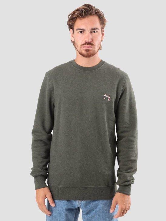 RVLT Bjarke Printed Sweatshirt Army 2554