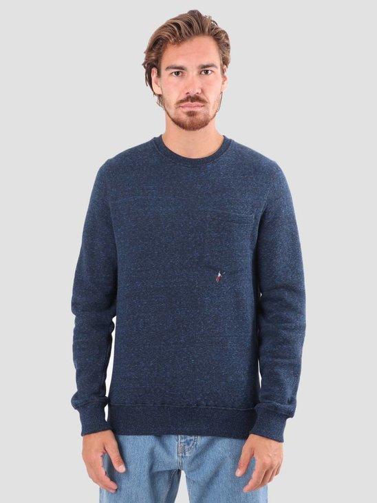 RVLT Bjarke Printed Sweatshirt Navy 2553