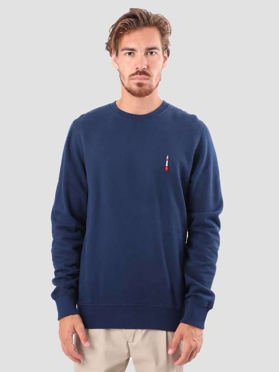 RVLT Bjarke Printed Sweatshirt Navy 2555