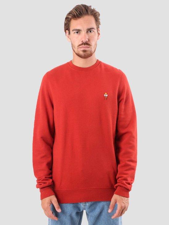 RVLT Bjarke Printed Sweatshirt Red 2555