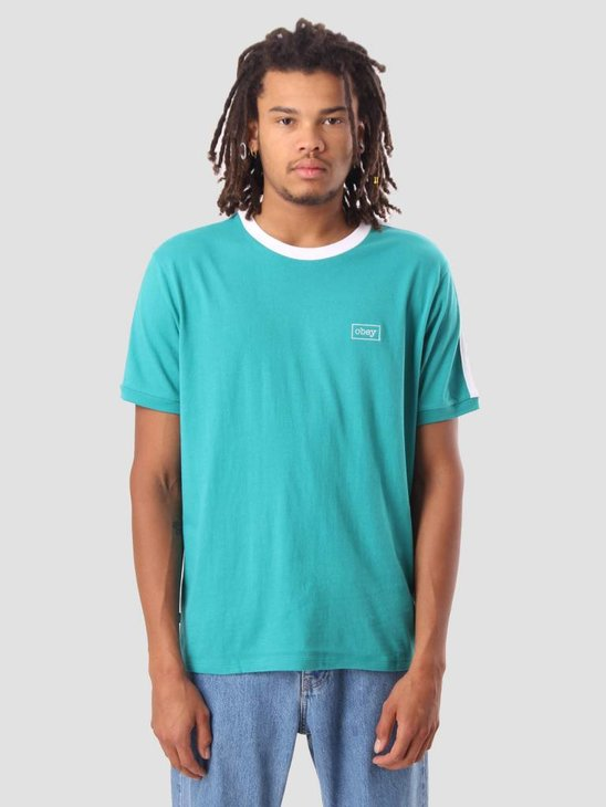 Obey Borstal Box T-Shirt Teal 131080224