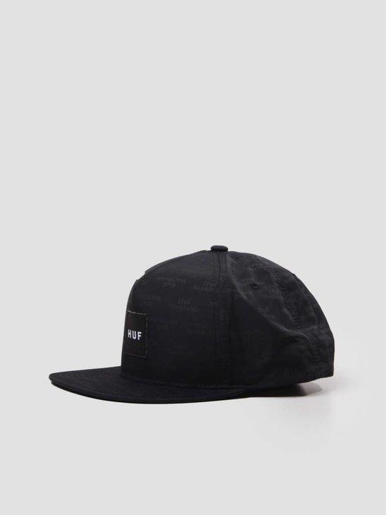 HUF Box Logo Jacquard Snapback Hat Black HT00165