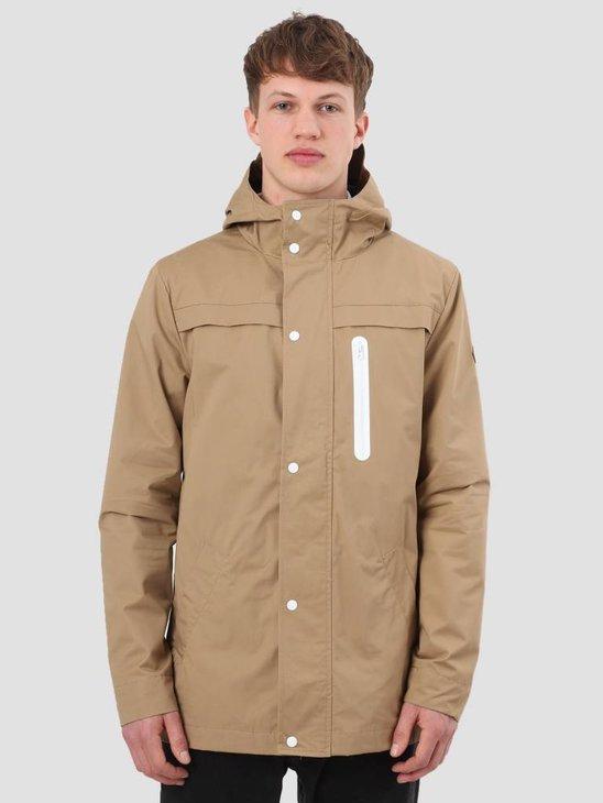 RVLT Brushed Hooded Jacket Light Khaki 7002