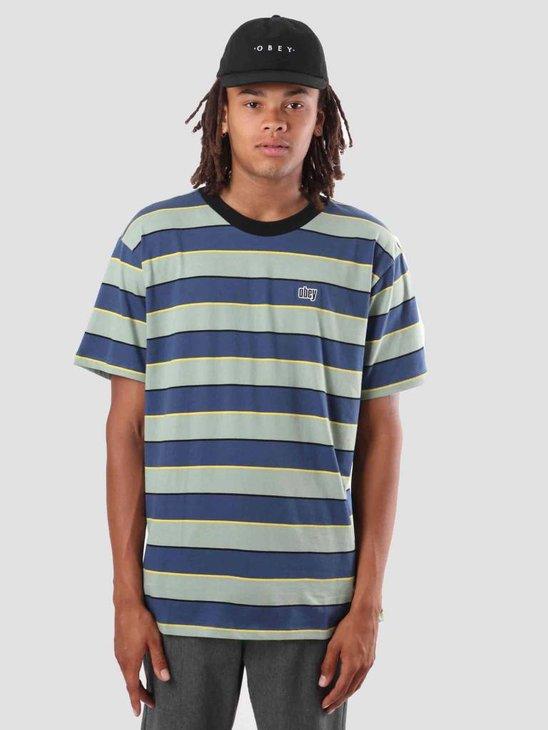 Obey Burn Classic T-Shirt  Dark Denim Multi 131080233