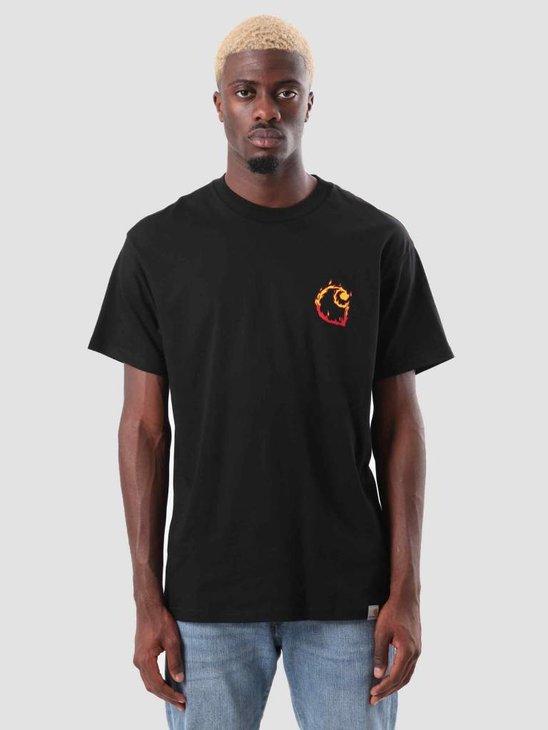 Carhartt Burning C T-Shirt Black I025760-8900