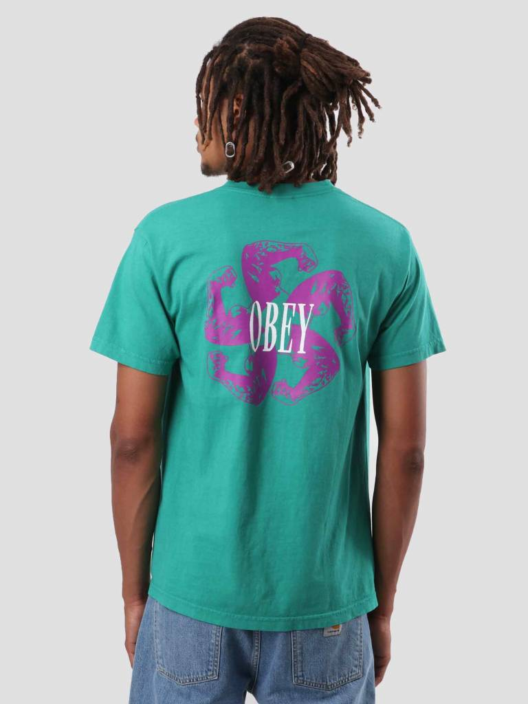 Obey Obey Call To Arms T-Shirt Emerald 166911825