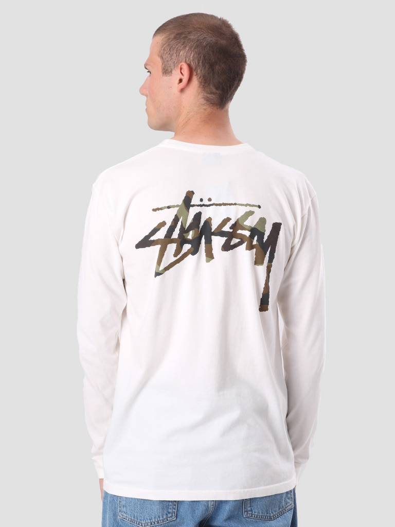 Stussy Stussy Camo Stock Pig. Dyed Pkt Longsleeve Natural 1954248