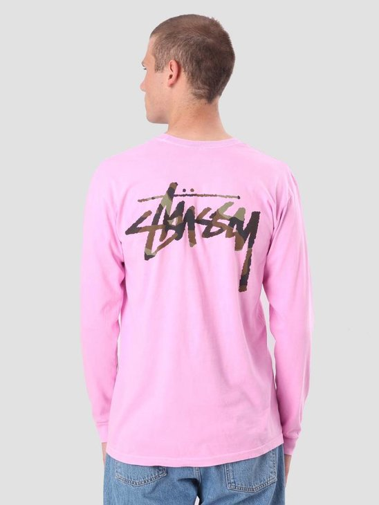 Stussy Camo Stock Pig. Dyed Pkt Longsleeve Pink 1954248