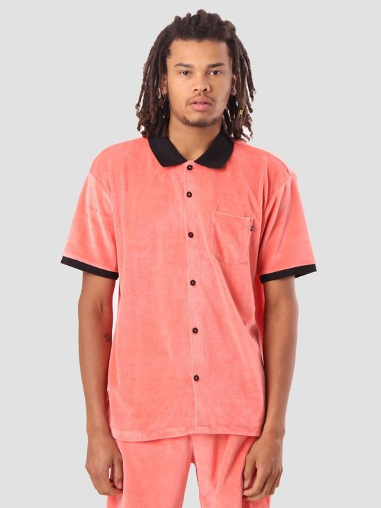 Obey Catalina Btn Up Box Polo Coral 131090037