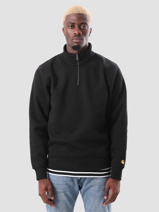 Carhartt Chase Highneck Sweat Black Gold I026390-8990