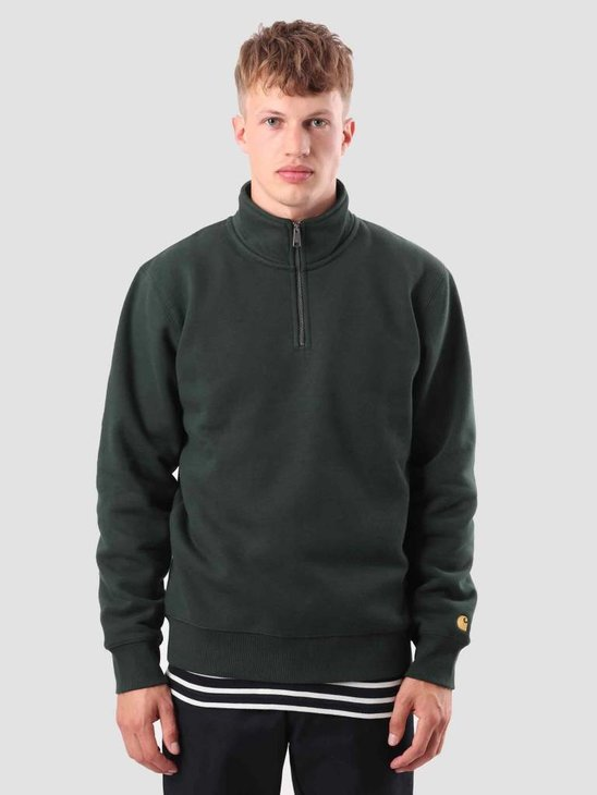 Carhartt Chase Highneck Sweat Loden Gold I026390-88590