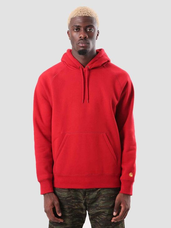 Carhartt Chase Hoodie Blast Red Gold I026384-LR90