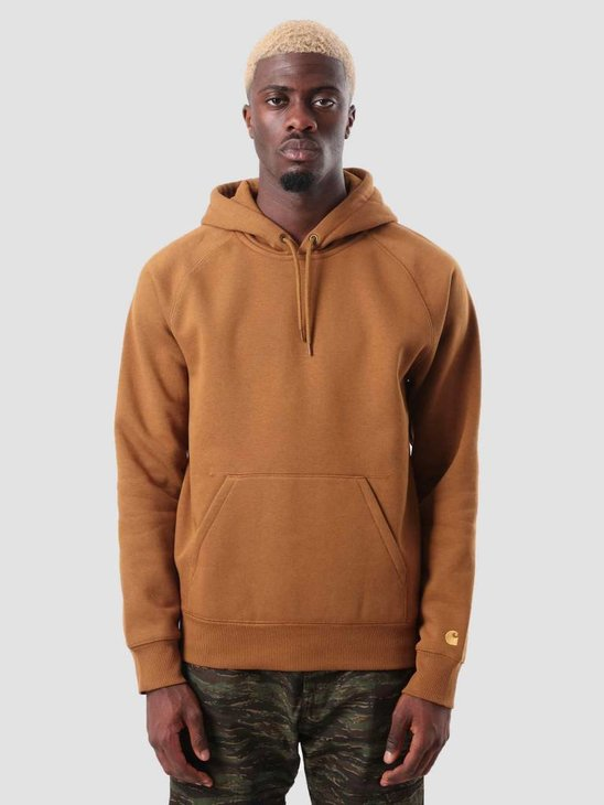 Carhartt Chase Hoodie Hamilton Brown Gold I026384-HZ90