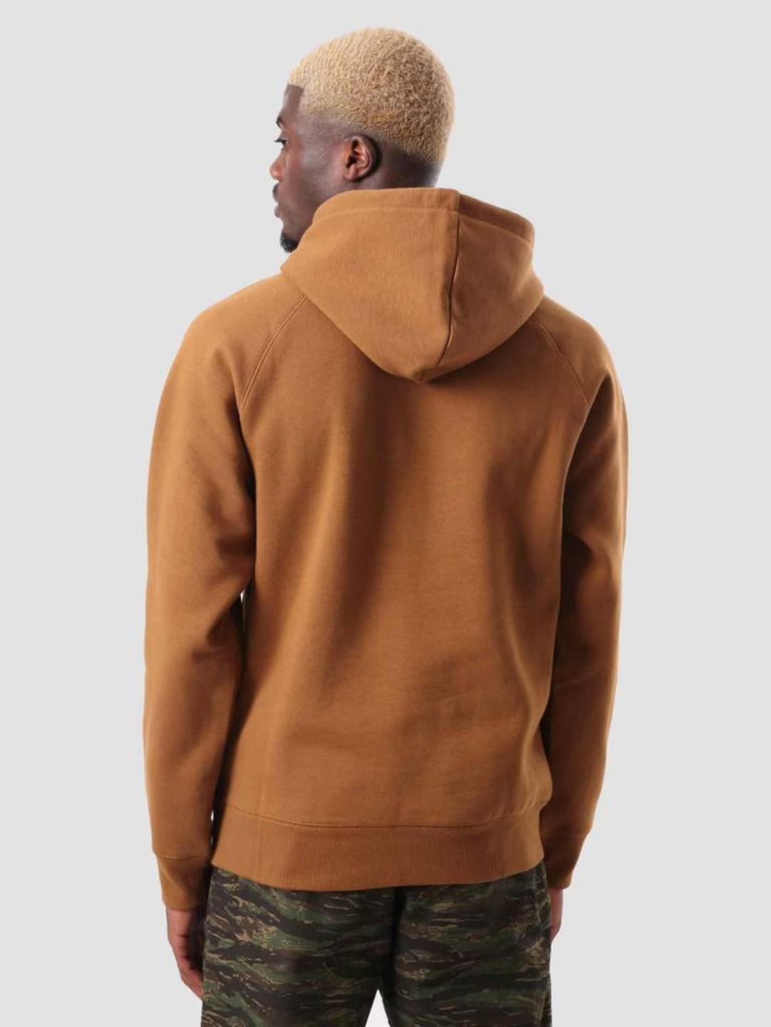 Najnowsza gorąca sprzedaż online najlepsza wyprzedaż Carhartt WIP Chase Hoodie Hamilton Brown Gold I026384-HZ90