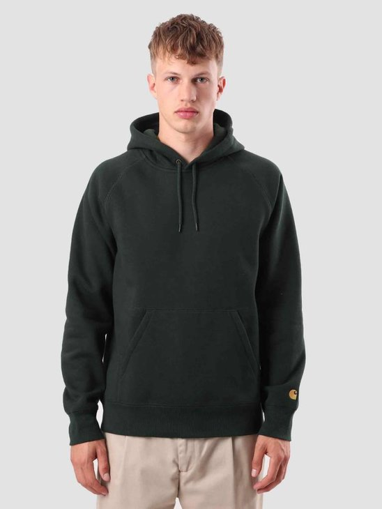 Carhartt WIP Chase Hoodie Loden Gold I026384-88590