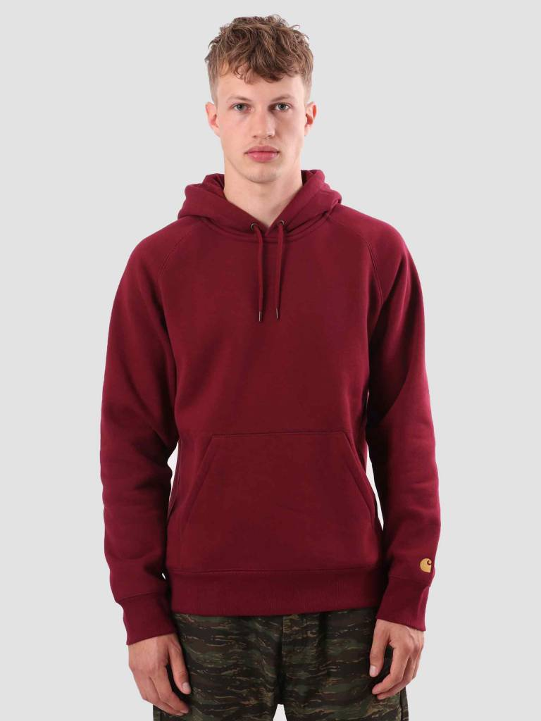 734a45091559 Carhartt WIP Chase Hoodie Mulberry Gold I026384-88490 - FRESHCOTTON