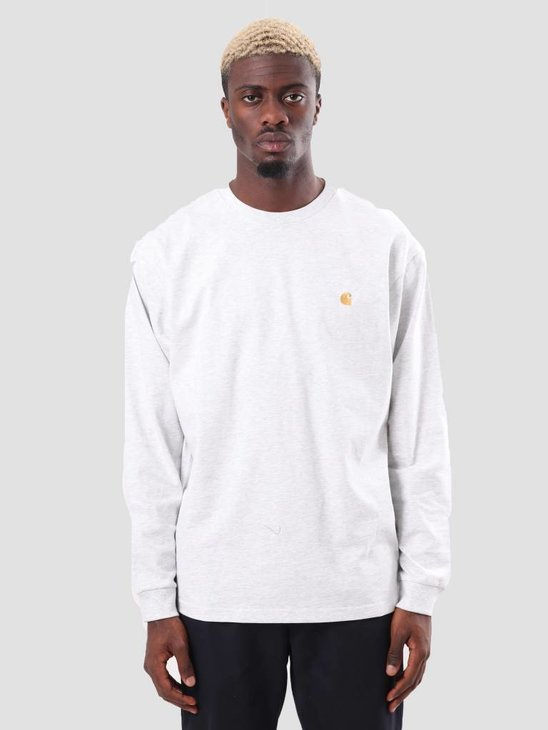 Carhartt Chase Longsleeve Ash Heather Gold I026392-48290