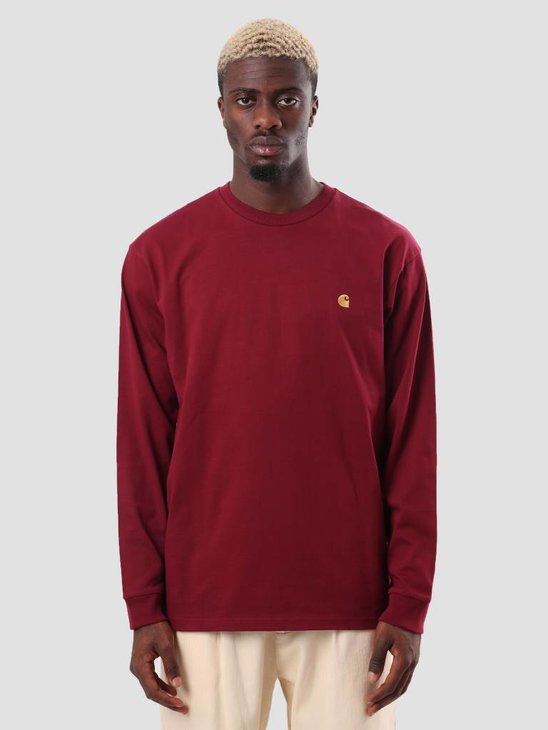 Carhartt WIP Chase Longsleeve Mulberry Gold I026392-88490