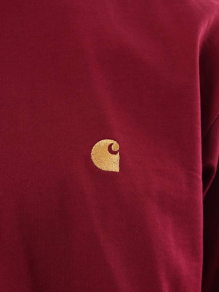 Carhartt WIP Carhartt WIP Chase Longsleeve Mulberry Gold I026392-88490
