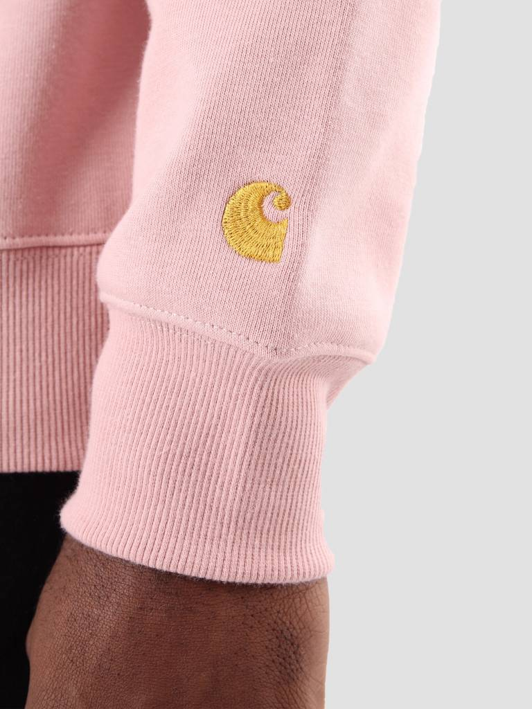 Carhartt Carhartt Chase Neck Zip Sweater Soft Rose Gold I024811